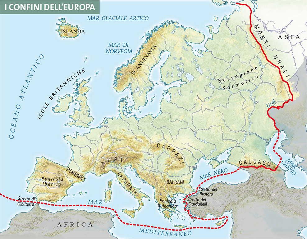 Cartina Fisica Europa Orientale.Capitolo 4 Rilievi E Pianure D Europa