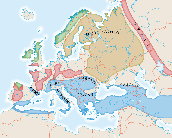 Europa Meridionale Cartina.Capitolo 4 Rilievi E Pianure D Europa
