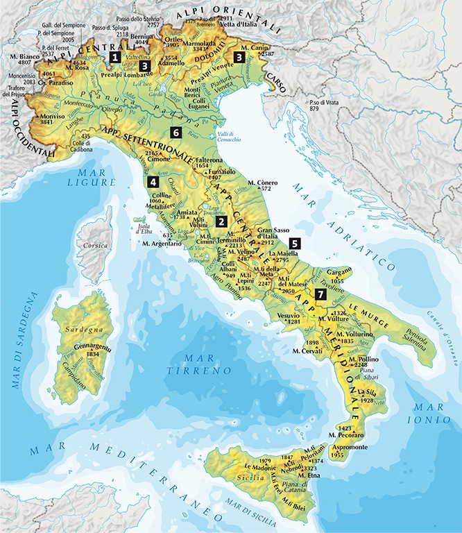 Cartina Italia Monti E Fiumi.Capitolo 4 Rilievi E Pianure D Europa