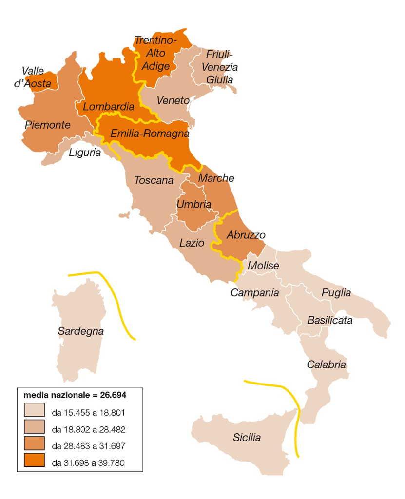 Cartina Italia Politica Con Capoluoghi Di Regione.L Italia Al Centro Del Mediterraneo