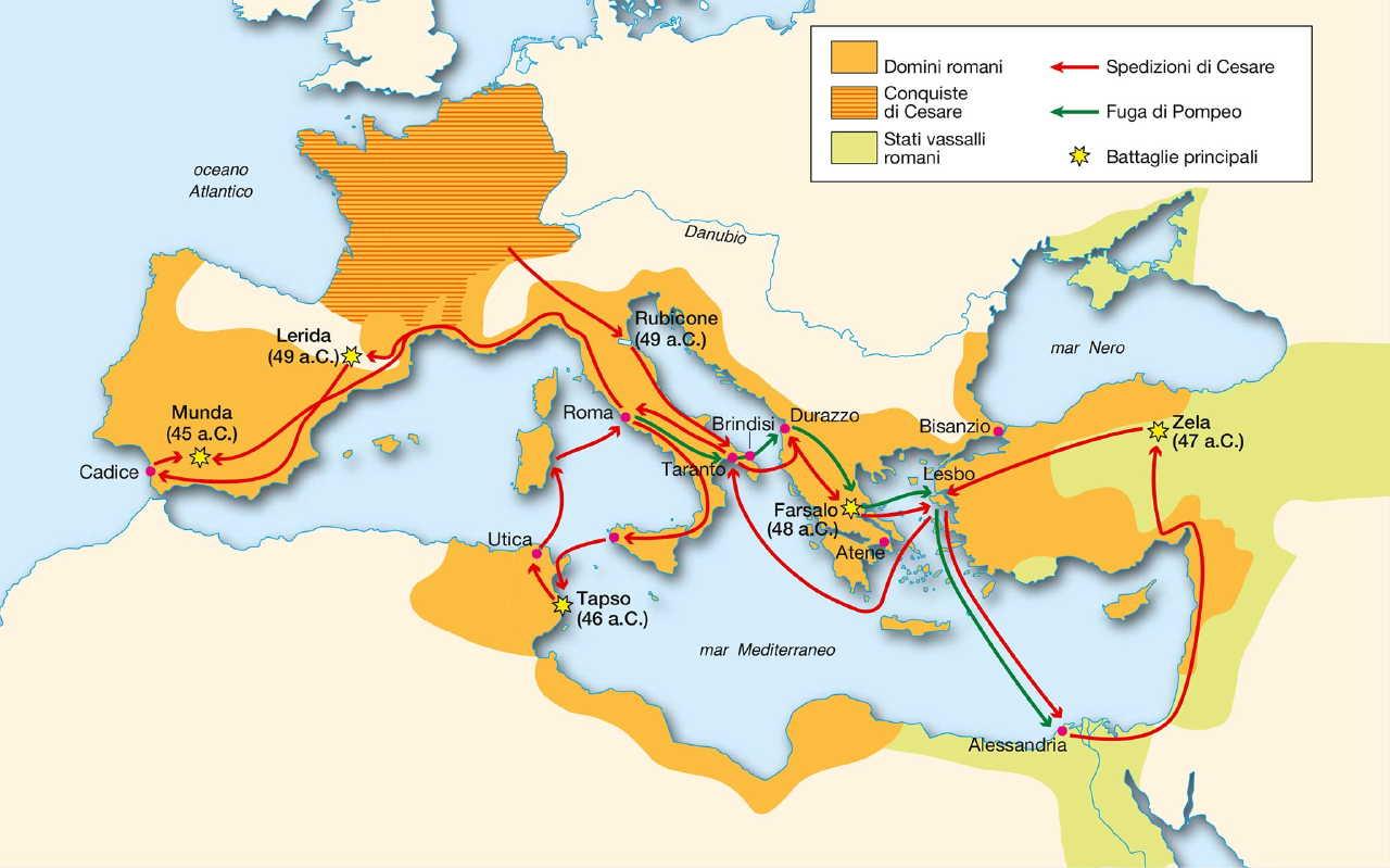 Cartina Mondo Romano